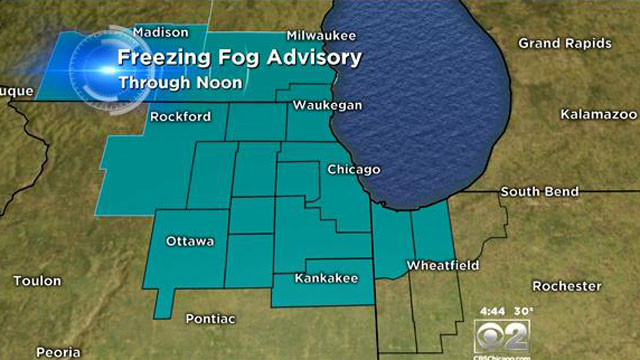 After Rains Fog Rolls Into Madison >> Freezing Fog Advisory In Effect As Chicago Thaws Out Cbs Chicago