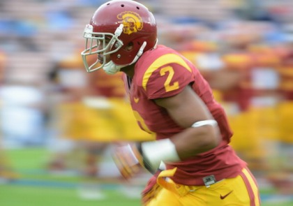 USC receiver Robert Woods (credit:  Harry How/Getty Images)
