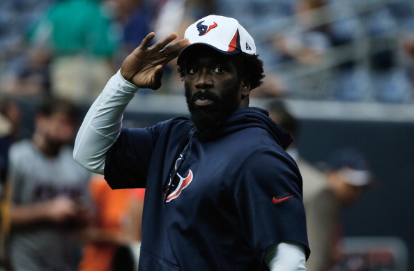 HOUSTON, TX - AUGUST 17:  Ed Reed #20 of the Houston Texans waits on the field before the start of the preseason game against the Miami Dolphins at Reliant Stadium on August 17, 2013 in Houston, Texas.  (Photo by Scott Halleran/Getty Images)