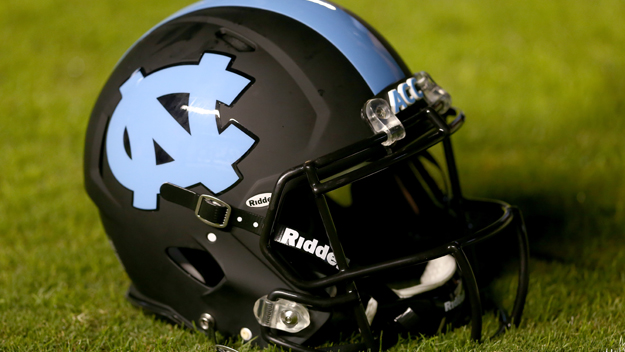 A helmet of the North Carolina Tar Heels.  (credit: Streeter Lecka/Getty Images)