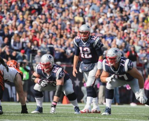 FOXBORO, MA - OCTOBER 16: Tom Brady #12 of the New England Patriots prepares to receive a snap during the game against the Cincinnati Bengals at Gillette Stadium on October 16, 2016 in Foxboro, Massachusetts. (Photo by Jim Rogash/Getty Images)