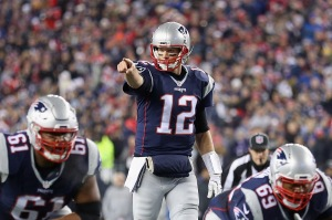 FOXBORO, MA - DECEMBER 12: Tom Brady #12 of the New England Patriots gestures during the first half against the Baltimore Ravens at Gillette Stadium on December 12, 2016 in Foxboro, Massachusetts. (Photo by Maddie Meyer/Getty Images)